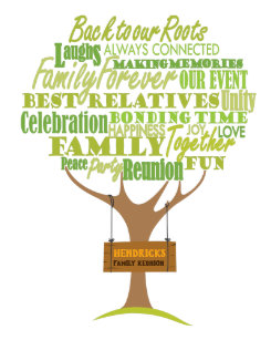 440d8b3a1 Family Reunion design with tree element Announcement Postcard