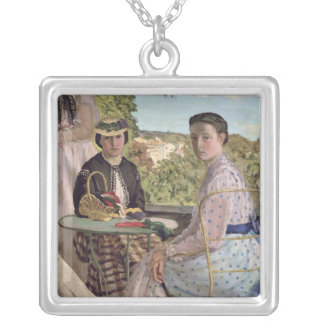 Family Reunion, detail of two women, 1867 Silver Plated Necklace