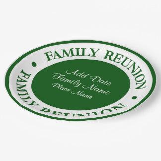 Family Reunion Disposable Plates