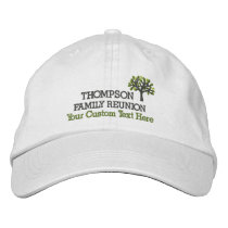 Family Reunion Embroidered Baseball Cap With Tree