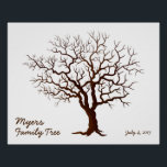 "Family Reunion Finger Print Tree (Matte)<br><div class=""desc"">A great keepsake for your next family reunion. Just select some green ink pads and add family member&#39;s finger prints as leaves to the tree branches.</div>"