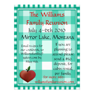 Family Reunion Flier Flyers