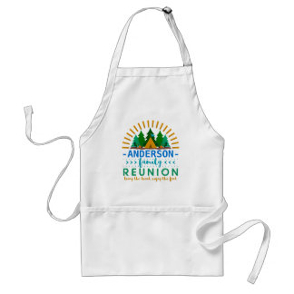 Family Reunion Funny Camping Cookout | Custom Name Adult Apron