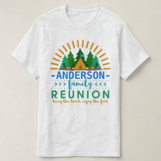 Family Reunion Funny Camping Sun Ray | Custom Name T-Shirt