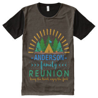 Family Reunion Funny Camping Trip   Add Name All-Over-Print Shirt
