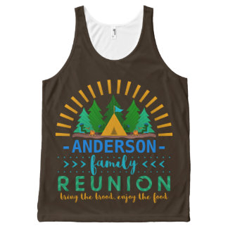Family Reunion Funny Camping Trip | Add Name All-Over-Print Tank Top