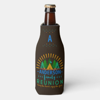 Family Reunion Funny Camping Trip | Add Name Bottle Cooler