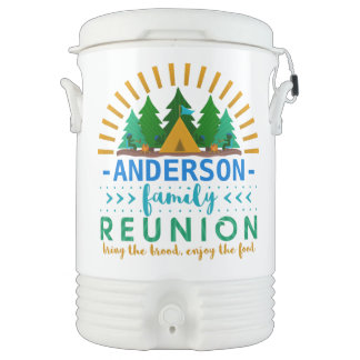 Family Reunion Funny Camping Trip | Add Name Cooler