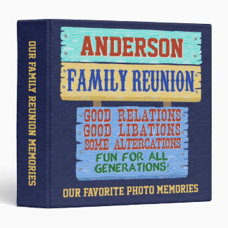 Family Reunion Funny Wooden Sign | Photo Memories Binder