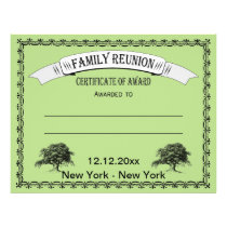 Family Reunion/Gathering Certificate of Award Flyer