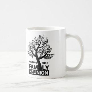 Family Reunion Heart Tree Black Silhouette Coffee Mug