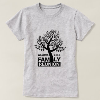 Family Reunion Heart Tree Black Silhouette T-Shirt