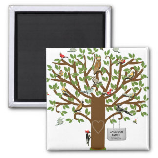 family reunion ideas 2 inch square magnet