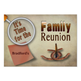FAMILY REUNION INVITATION - BROWN - HORSESHOES