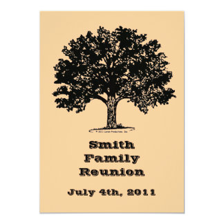 Family Reunion Invitation with Envelope