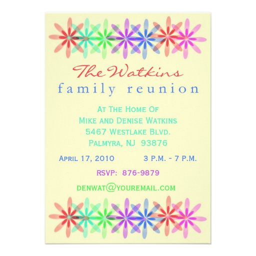 Family Reunion Invites for good invitation example