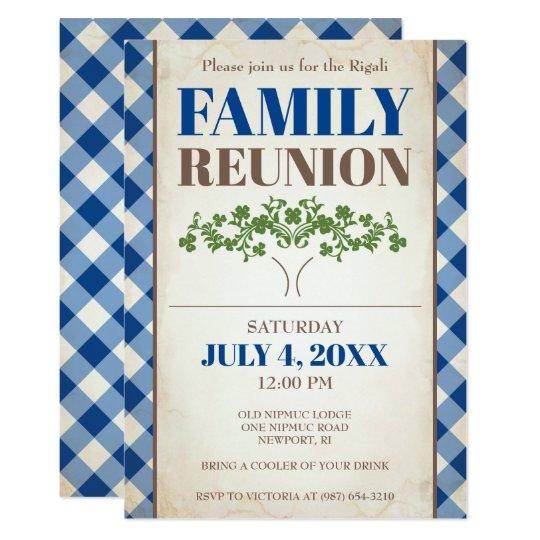 family reunion invite tree family picnic invitation zazzle com