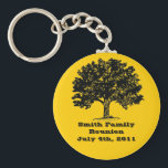 "Family Reunion Keychain<br><div class=""desc"">Great souvenirs for your next family reunion. Use the customize button and edit the background color to change the color behind the tree.</div>"