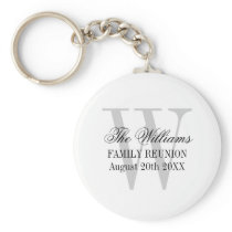 Family reunion keychains with custom name monogram