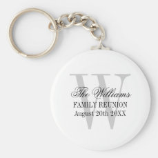 Family reunion keychains with custom name monogram