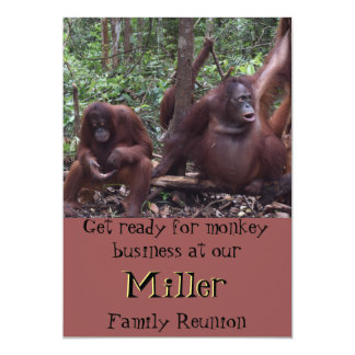 Family Reunion Monkey Business Card