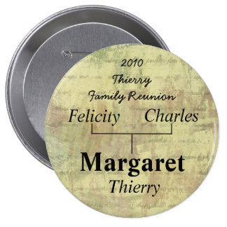 Family Reunion Name Tag 4 Inch Round Button