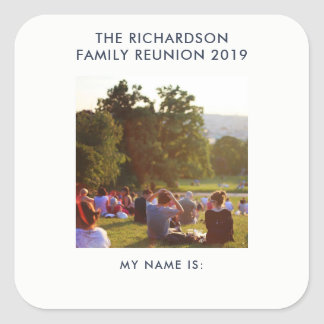 Family Reunion Name Tag with Your Photo or Logo