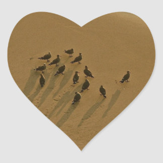 FAMILY REUNION OF SORTS AT THE BEACH HEART STICKER