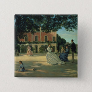 Family Reunion on the Terrace at Meric, 1867 Button
