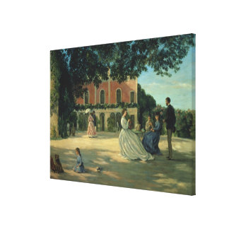 Family Reunion on the Terrace at Meric, 1867 Canvas Print