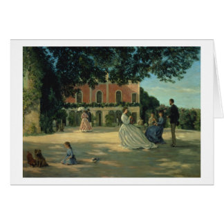 Family Reunion on the Terrace at Meric, 1867 Card