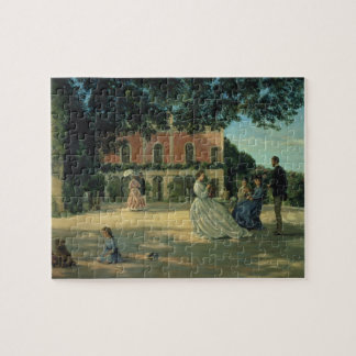 Family Reunion on the Terrace at Meric, 1867 Jigsaw Puzzle