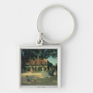 Family Reunion on the Terrace at Meric, 1867 Keychain