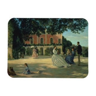 Family Reunion on the Terrace at Meric, 1867 Magnet