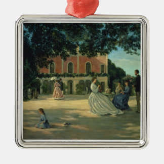 Family Reunion on the Terrace at Meric, 1867 Metal Ornament
