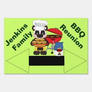 Family Reunion or BBQ Direction Yard Sign
