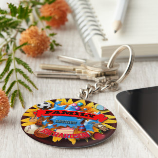 Family reunion party keychain