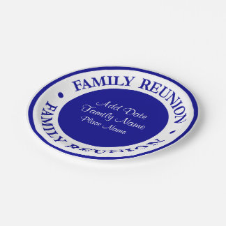 Family Reunion Party Plates