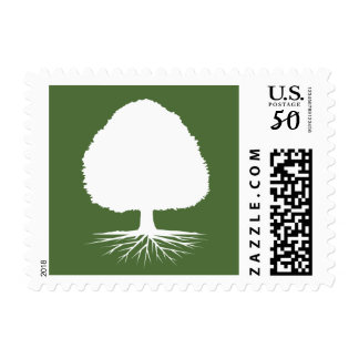Family reunion party stamps with genealogy tree