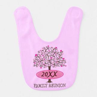 Family Reunion Personalized Heart Tree Baby Bib