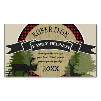 Family Reunion Personalized Magnets Woodland Deer