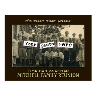 Family Reunion Photo Template Postcard