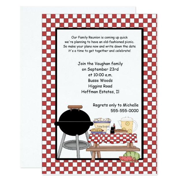 family reunion picnic invitation template