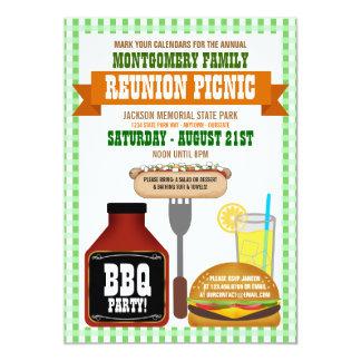 """Family Reunion Picnic Invitations 5"""" X 7"""" Invitation Card"""