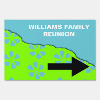 Family Reunion Pointer Sign
