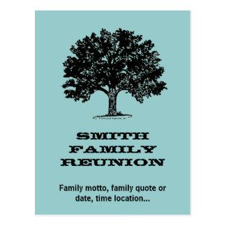 Family Reunion Postcard Invitation
