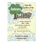 "Family Reunion Puzzle 5"" X 7"" Invitation Card"