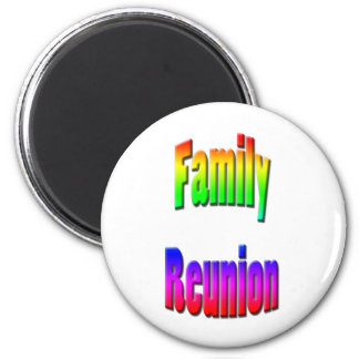 family reunion rainbow text magnet