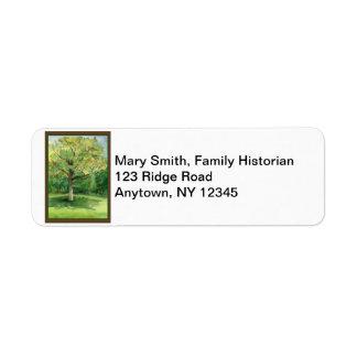 Family Reunion Return Address Labels