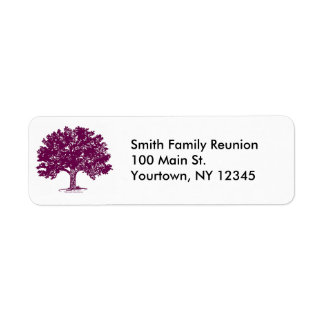 Family Reunion Return Address Labels